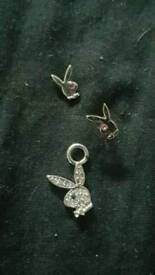 Playboy necklace and earrings