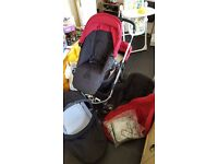 Icandy Apple 2 Pear double pushchair, excellent condition