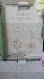 glass sweetie jars and accessories