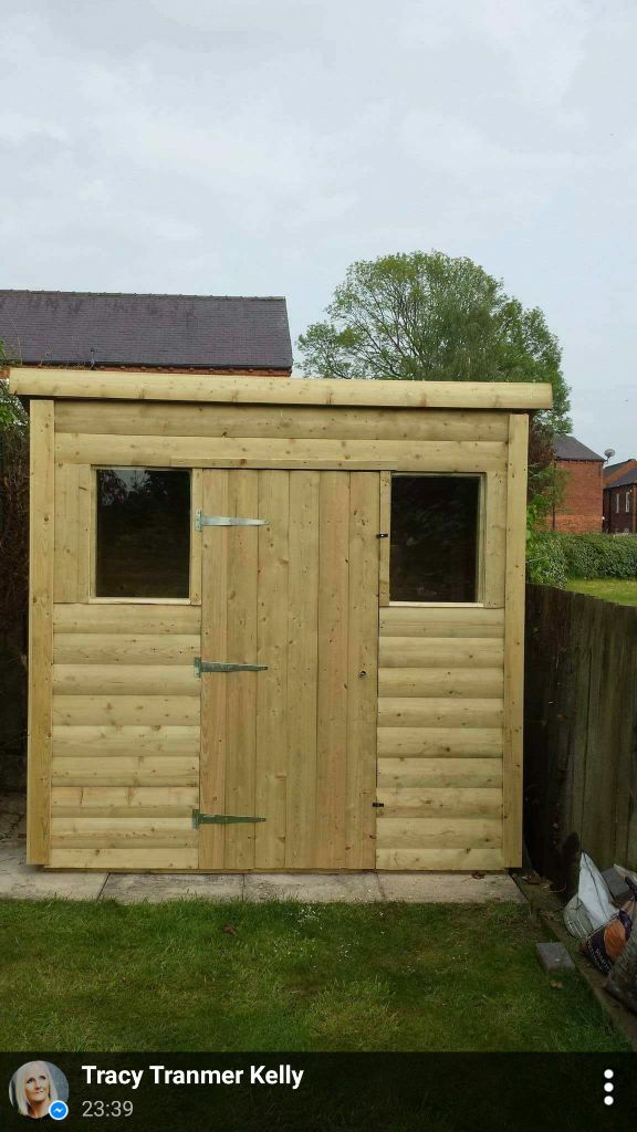 7 x 5 pent roof shed 250 in crossgates west yorkshire for Plastic pent shed