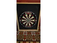Dartboard in home-made frame