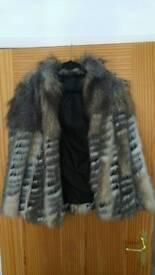Topshop fake fur coat size 10
