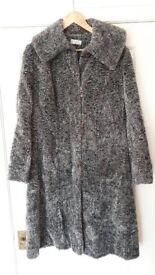 Ladies Kaliko grey Astrakan coat