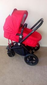 Kiddicare pushchair with assembly manual, rain over