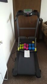Fitness Centre/Mini Gym - Running machine, SmartCore abs equipment & set of 3 ladies weights