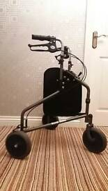 Walking aid/ three wheeled rollator