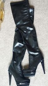 Carvela Wilma Leather Knee High Boots, Stunning, Full Leather.