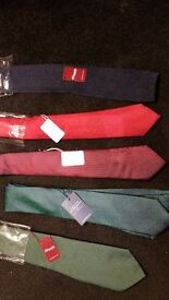 TM LEWIN TIES BRAND NEW JOHN FRANCOMB Charles Tyrwhitt navy GREEN RED BURGUNDY BLUE BRAND NEW