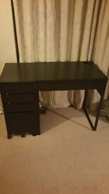 Micke Ikea writing desk and drawer cabinet