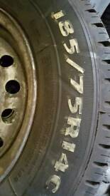 185/75x14c tyres on wheels Nissan vanette ldv cub etc