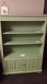 Oak dresser with storage anf shabby chic hearts