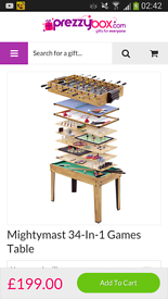 34- in - games table
