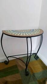Mosaic top Plant stand