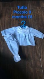 Selection of Spanish and baby designer wear boys 0-3 months