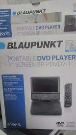 """Blaupunkt Portable Rechargeable7"""" Screen DVD Player"""