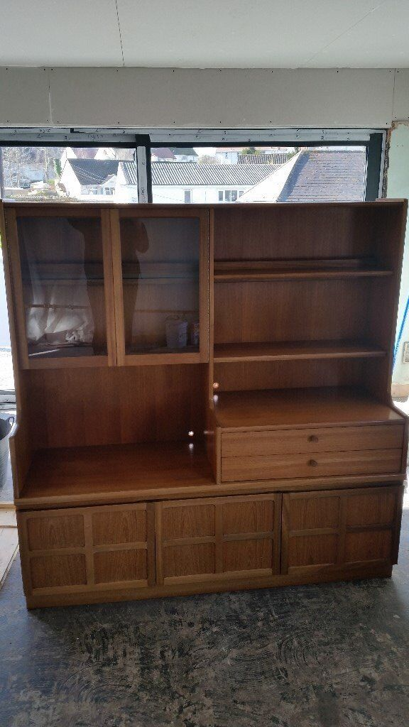 Vintage Nathan Teak Dining Room Dresser Display Unit