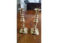 Brass candlesticks antique