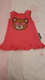 Beautiful pink mochino dress 9 to 12 month's