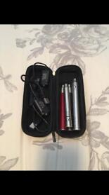 Ecig chargers, batteries, leads and case