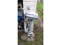Honda 5ph Long Shaft Outboard Hardly Used. Fresh Water Use Only: Bargain £625