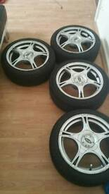 Alloy wheels with low profiles
