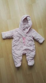 Age 3-6mths girls padded all in one.