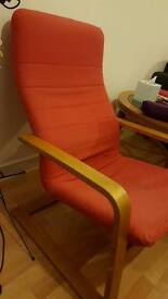 Comfy red IKEA chair
