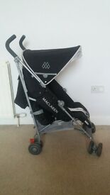 MACLAREN BUGGY Black and silver £60