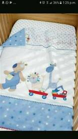 Next nursery bundle boy blue star best friends