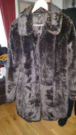 Fur effect coat