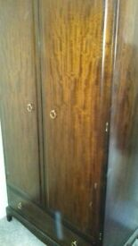 Double wardrobe and tallboy