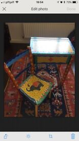 Children's desk. Very beautiful. Lovely bright colours