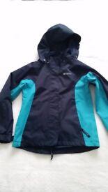 Girls Waterproof Coat - Age 9 Excellent condition