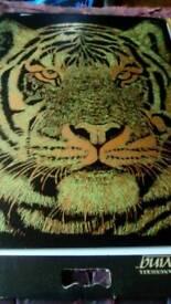 Hand engraved tiger