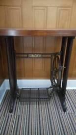 """Restored Vintage Singer Sewing Machine Table """