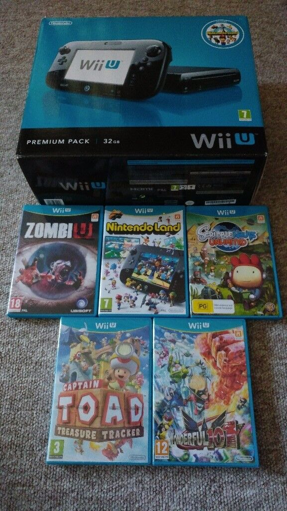 Wii U 32gb boxed with 5 games