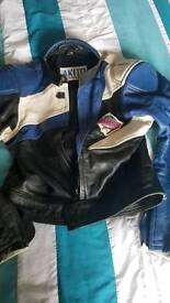 2 piece motorcycle leather suit