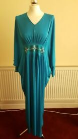 Butterfly design jilbaab with diamantes on waist and sleeves