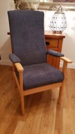 orthopaedic high back chair as new