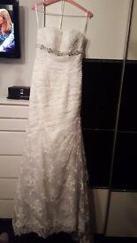 Stunning Romantica Ivory Wedding Dress Size 8