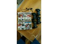 PS3 games and 4 x Controllers.