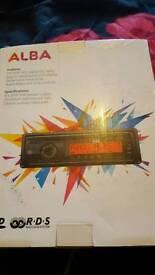 Car cd player. NEW. STILL IN BOX
