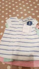 Bnwt baby girls t-shirts 0-3 months