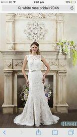 New White Rose Ivory Lace wedding dress size 16 -18