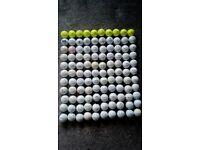 110 golf balls.