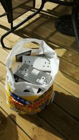 Wall sockets/switches/fuses for sale(bag full)