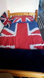 Union Jack single bedding