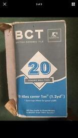 Almost full box of white mosaic tiles BCT