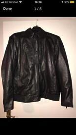 Calvin Klein leather jacket.