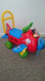 Sit n ride mickey mouse aeroplane